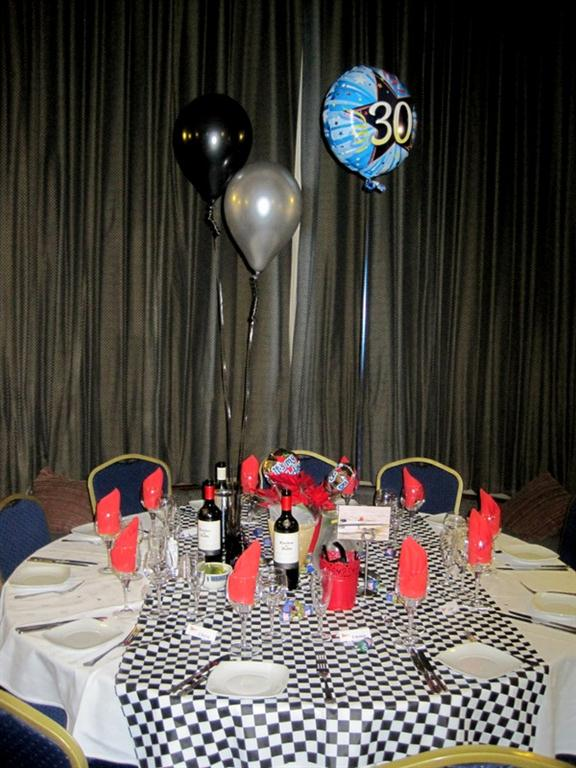 30th Birthday table setting