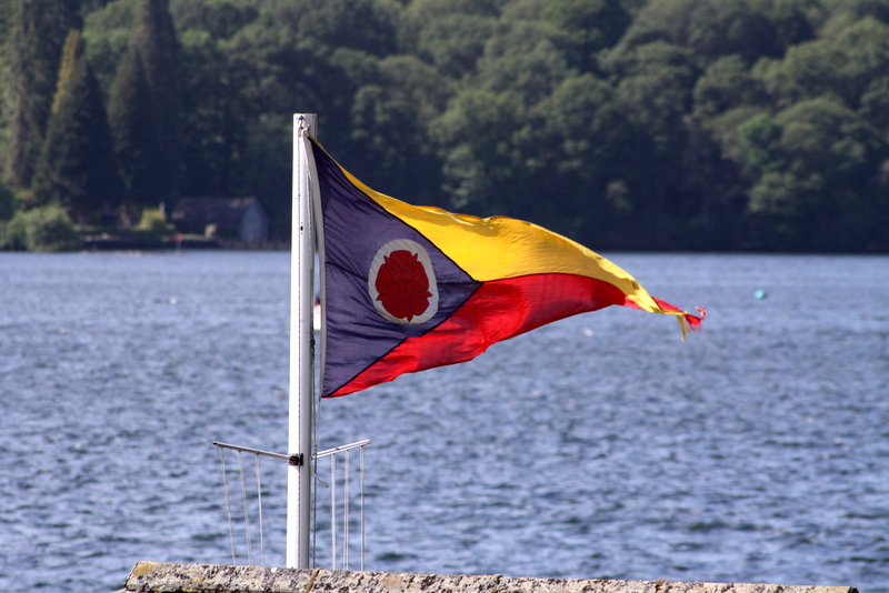 Our club flag flying high over Windermere