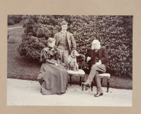 Beatrix Potter with her brother & father at Broad Leys