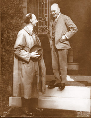 Charles Voysey with his brother  Elison (on the left)